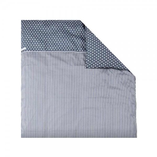 Little Dutch Kissenbezug Sterne Streifen grau 80 x 80