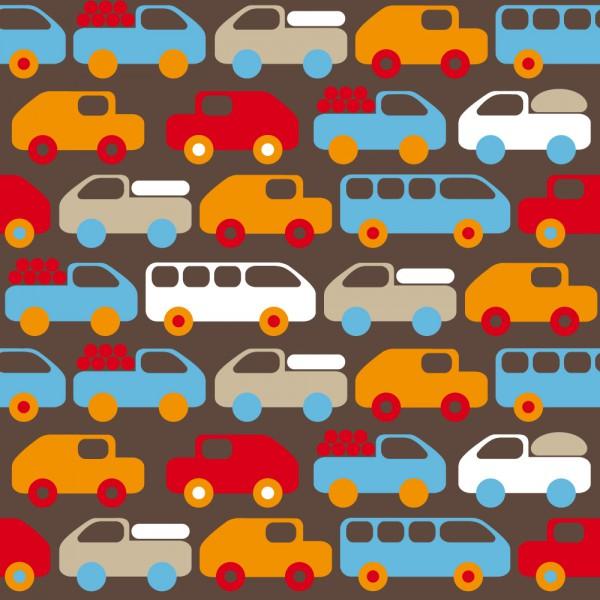 Lavmi Tapete Autos orange rot braun