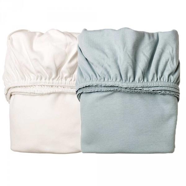 Leander Laken für Wiege rauch blau / weiß
