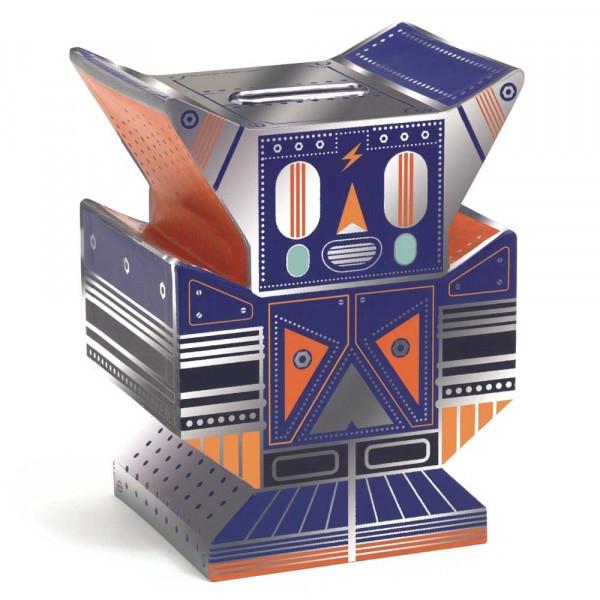 Djeco Kinder Spardose Roboter blaumetallic