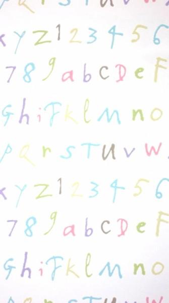 Osborne & Little Tapete Buchstaben weiss