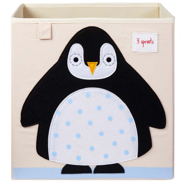 3 Sprouts Spielzeugkorb Pinguin
