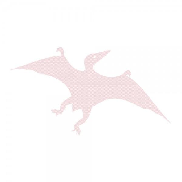 Inke Tapetendino Pterosaurus rosa Punkte weiss