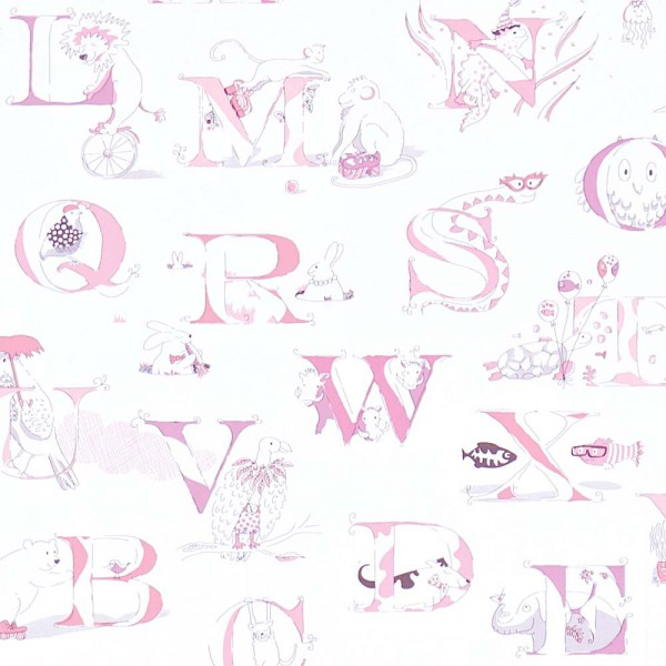 Little Sanderson Abracazoo Tapete Alphabet creme rosa