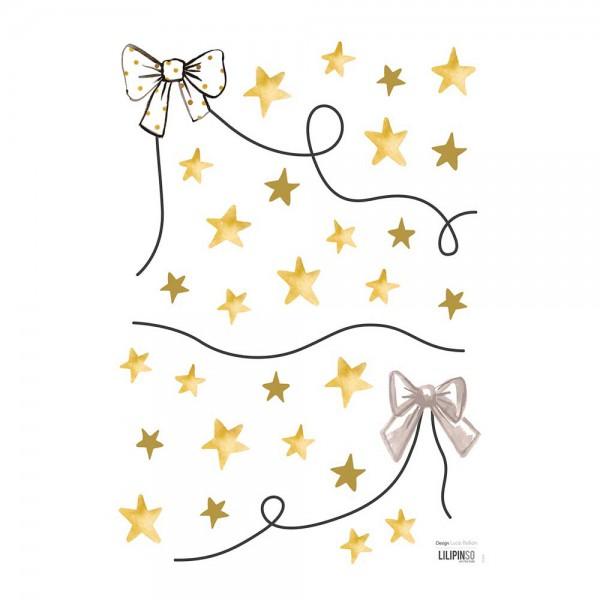 Lilipinso Wandsticker A3 Sterne und Schleifen