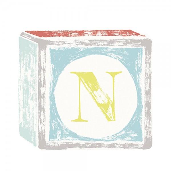 Lilipinso Sticker Buchstabe auf Spielwürfel N