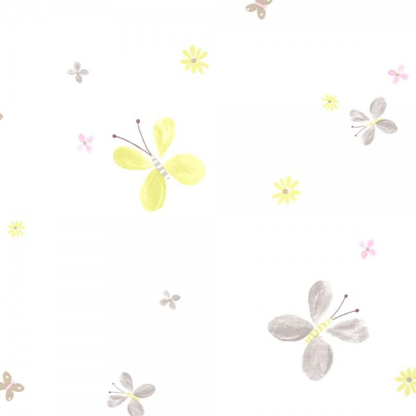 Casadeco Tapete Schmetterling lime Jules & Julie