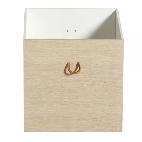 Oliver Furniture Wood Regal Kisten Set weiss/Eiche