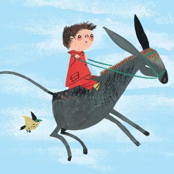 Kek Amsterdam Kinderposter Junge auf Esel