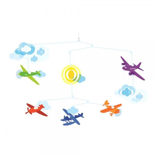 Djeco Kinder Mobile Flugzeuge