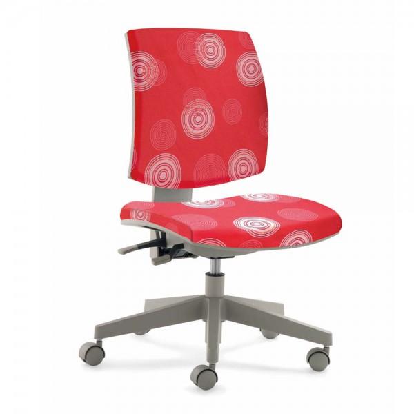 Mayer Kinder Bürostuhl flexo rot Kringel