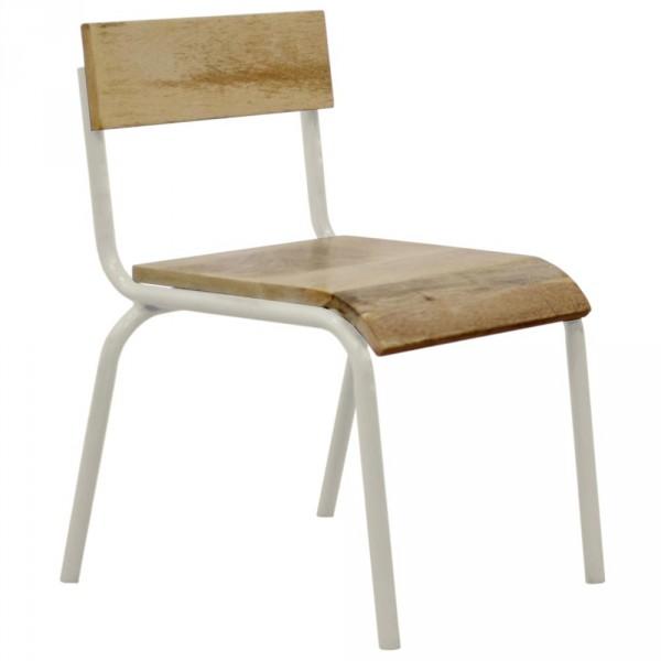 Kidsdepot Stuhl Metall Holz weiss