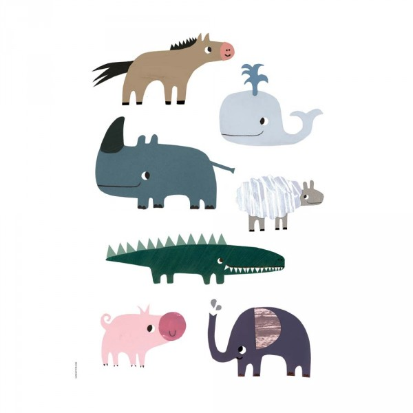 I Love My Type Poster lächelnde Tiere