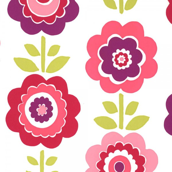 Harlequin all about me Tapete Blumen pink