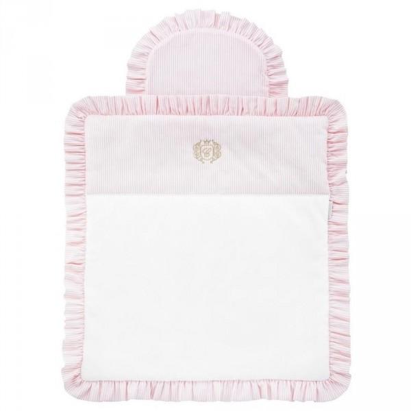 Caramella Bettwäsche für Moseskörbchen Rüschen rosa