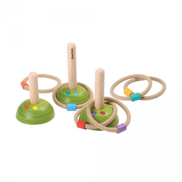 Plan Toys Ringspiel Holz natur mit bunt