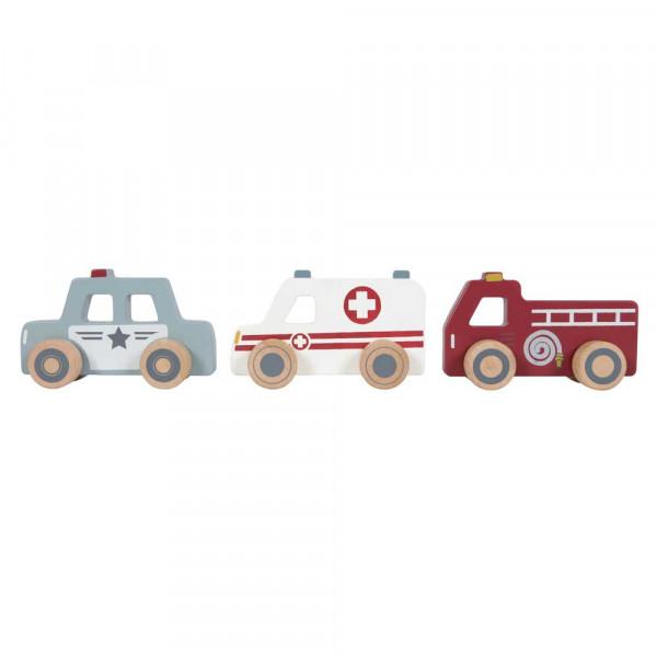Little Dutch Einsatzfahrzeuge Holz