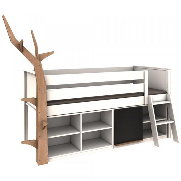 De Breuyn Kasva halbhohes Bett mit Regalen & Baum
