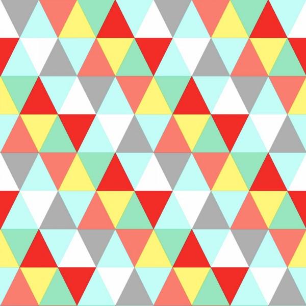 Rasch Textil Everybody Bonjour Tapete Dreiecke bunt