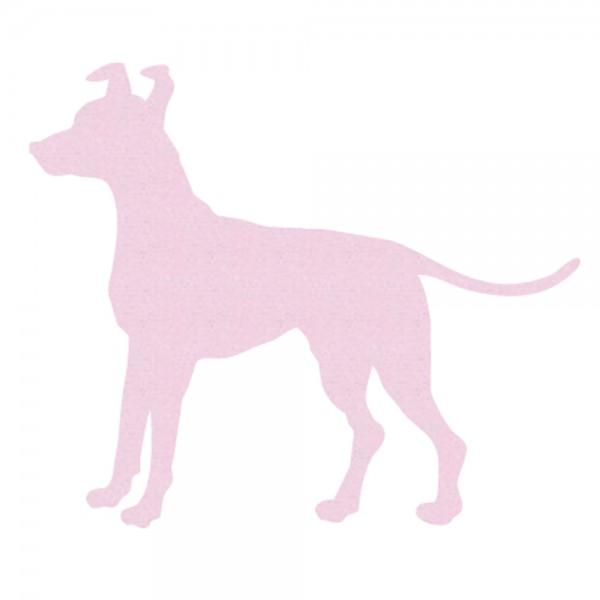 Inke Tapetentier Hund uni rosa