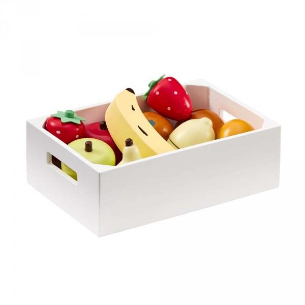 Kids Concept Holzkiste mit Obst für Kinderküchen