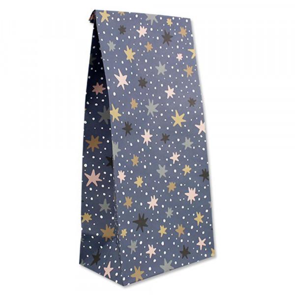 Ava & Yves Geschenk Papiertüten Sterne blau