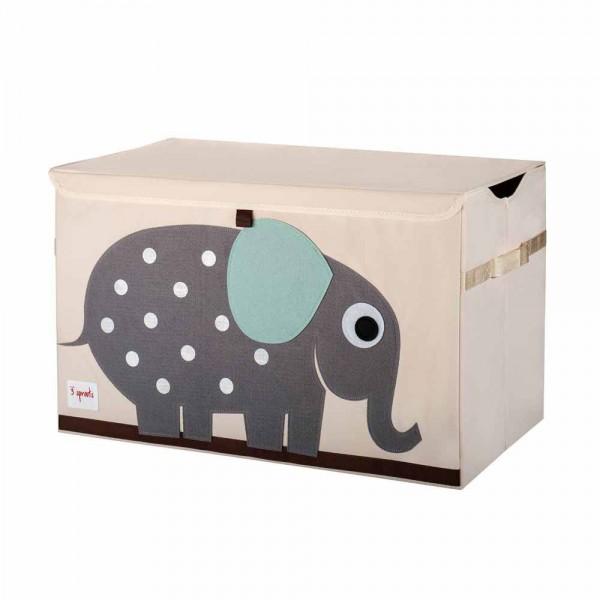 3 Sprouts Aufbewahrungskiste Deckel Elefant