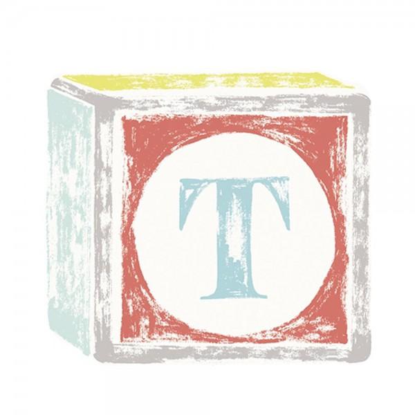 Lilipinso Sticker Buchstabe auf Spielwürfel T