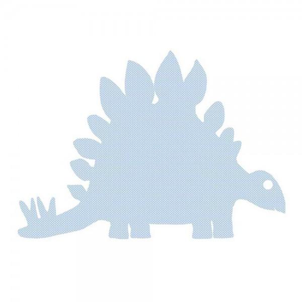 Inke Tapetendino Stagosaurus hellblau Punkte weiss
