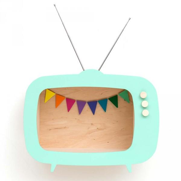 Up Warsaw Wandregal TV Fernseher Tiwi mint