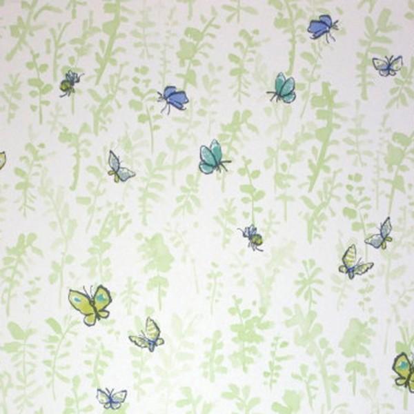 Osborne & Little Tapete Schmetterlinge grün