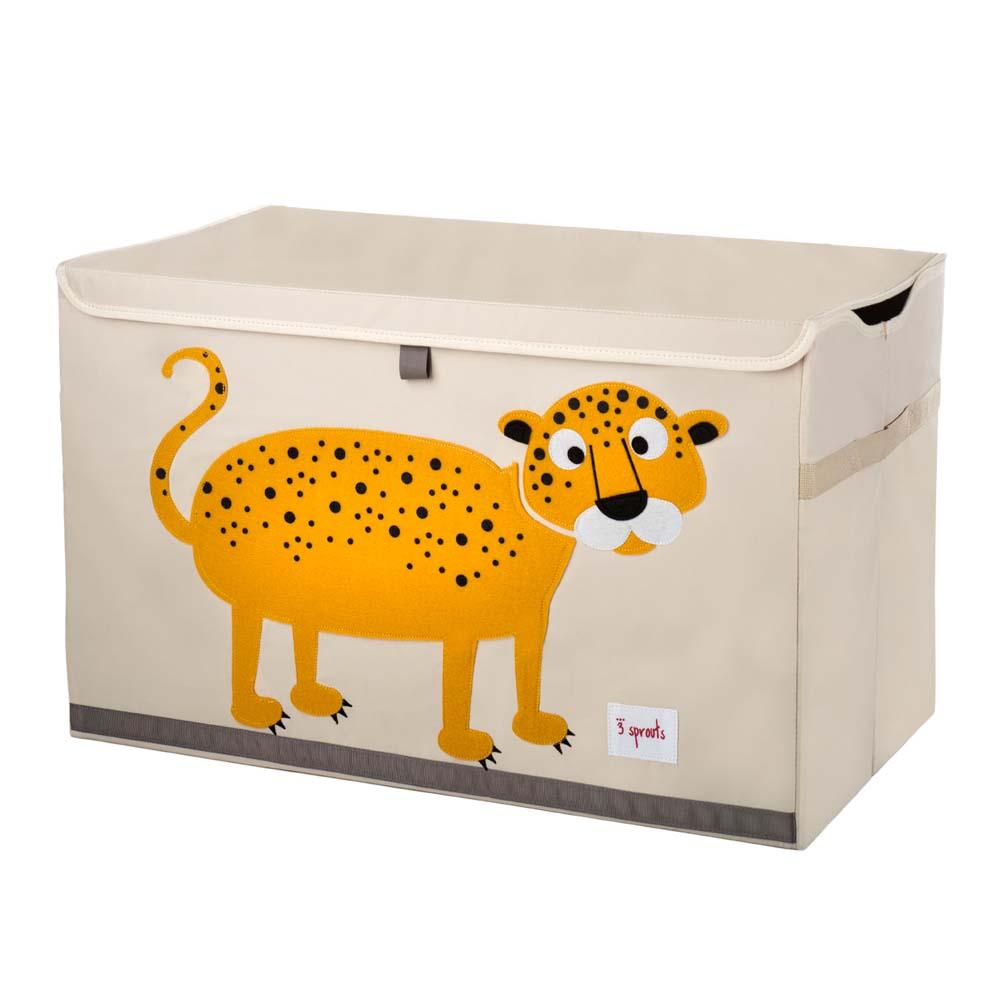 3 Sprouts Aufbewahrungskiste Deckel Leopard