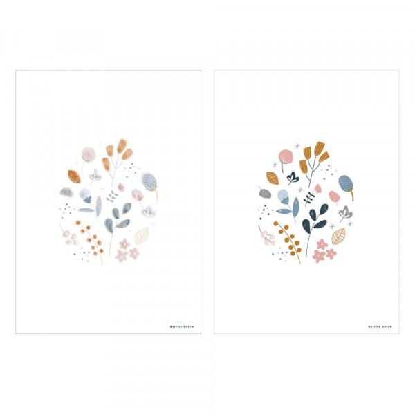 """Little Dutch Poster Blumenkranz """"Spring Flowers"""" zweiseitig"""
