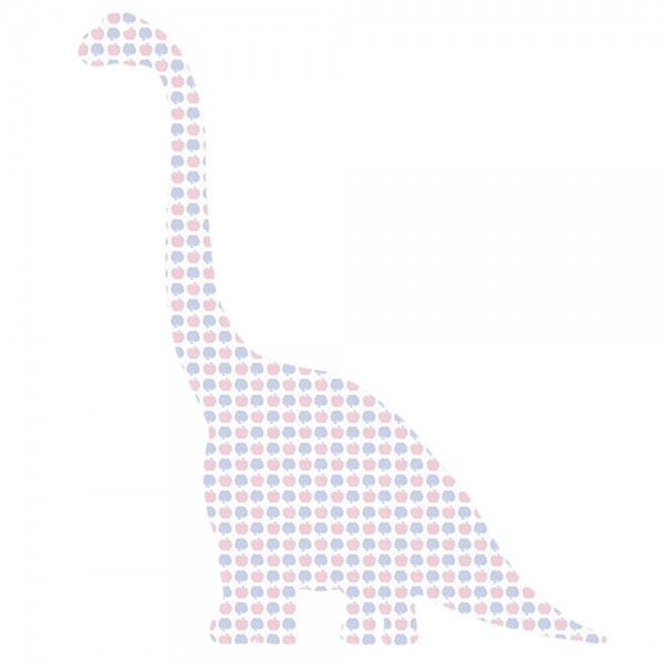 Inke Tapeten Dinosaurier Diplodokus Apfelmuster blau rosa