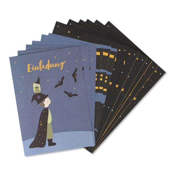 Ava & Yves Einladungskarten Kindergeburtstag Magier