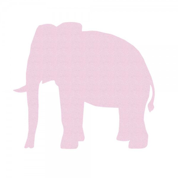 Inke Tapetentier Elefant uni rosa