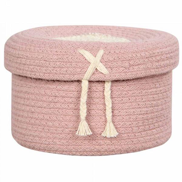 Lorena Canals Korb mit Deckel klein rosa