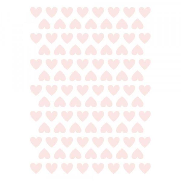 Lilipinso Wandsticker A3 Herzchen rosa