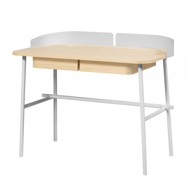Harto Schreibtisch Victor Eiche & Metall hellgrau