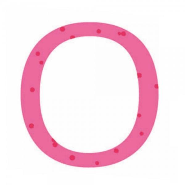 Lilipinso Sticker rosa Buchstabe o