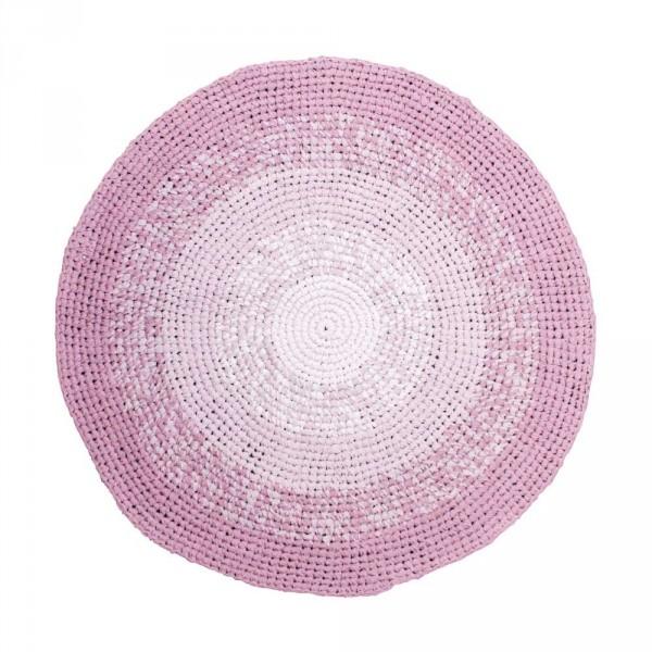 Sebra Häkel Teppich Farbverlauf pflaume
