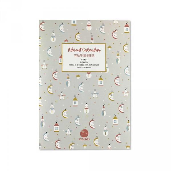 Ava & Yves Geschenkpapier Adventskalender Weihnachtstraum