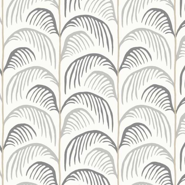 Eijffinger Mini Me Tapete Palmen Blätter grau anthrazit