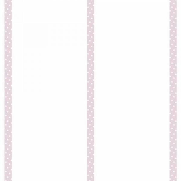 Casadeco Alice & Paul Tapete Streifen mit Pünktchen pink