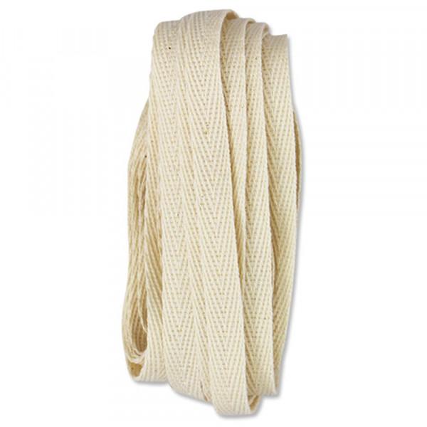 Ava & Yves Geschenkband Baumwolle natur