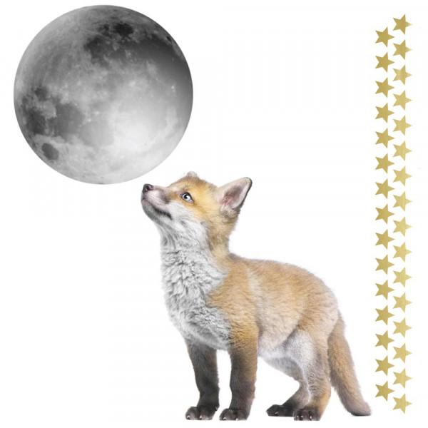 Dekornik Wandsticker kleiner Fuchs & Mond