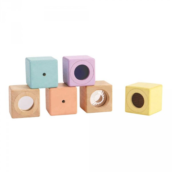 Plan Toys Sinnesklötze Holz pastell