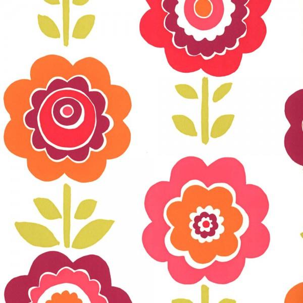 Harlequin all about me Tapete Blumen orange pink