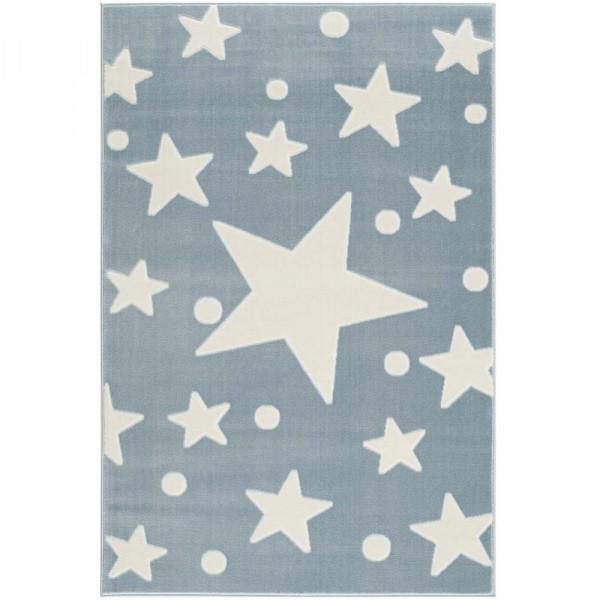 Livone Teppich Estrella Stern & Konfetti blau