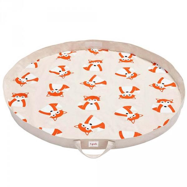 3 Sprouts Spielmatte / Spielzeugsack Fuchs